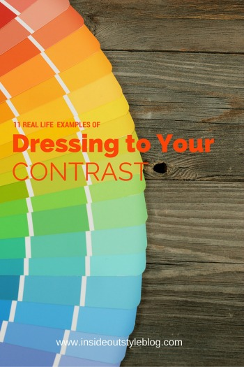 Real Life Examples Of Dressing To Your Contrast