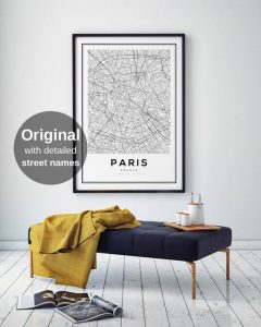 Street map of Paris