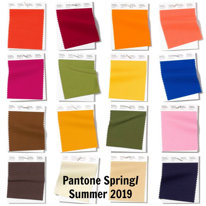 Discover Pantone S Spring Summer 2019 Colour Forecast Inside Out Style