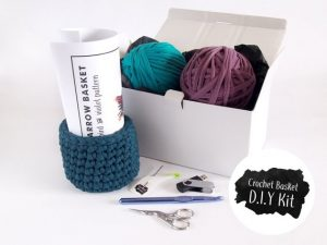 DIY crochet basket kit for beginners