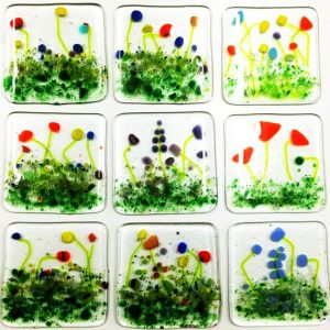 Glass meadow coasters