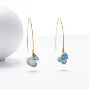 handmade opal earrings
