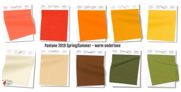 Pantone Spring/Summer 2019 colour forecast - warm colours