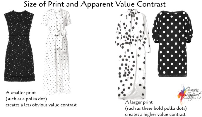 How the size of a print influences it's apparent value contrast
