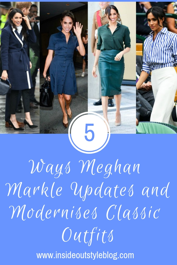 5 ways meghan markle updates and modernises clasic outfits