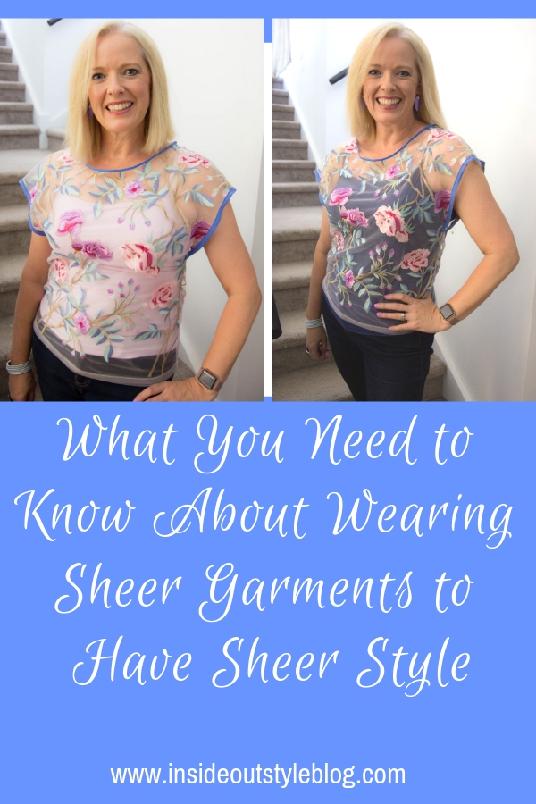 What You Need to Know About Wearing Sheer Garments to Have Sheer Style