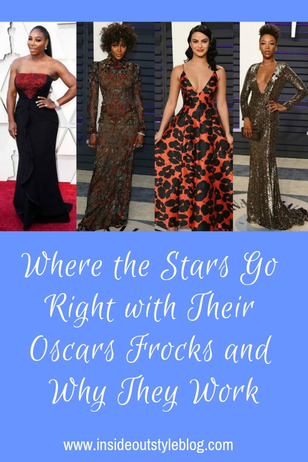 Where the Stars Go Right with Their Oscars Frocks and Why They Work and what you can learn from these examples and apply to your outfits when choosing colours, fabrics, patterns and textures.