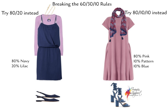 How to use the 60-30-10 proportion rule in creating outfits and mixing colours