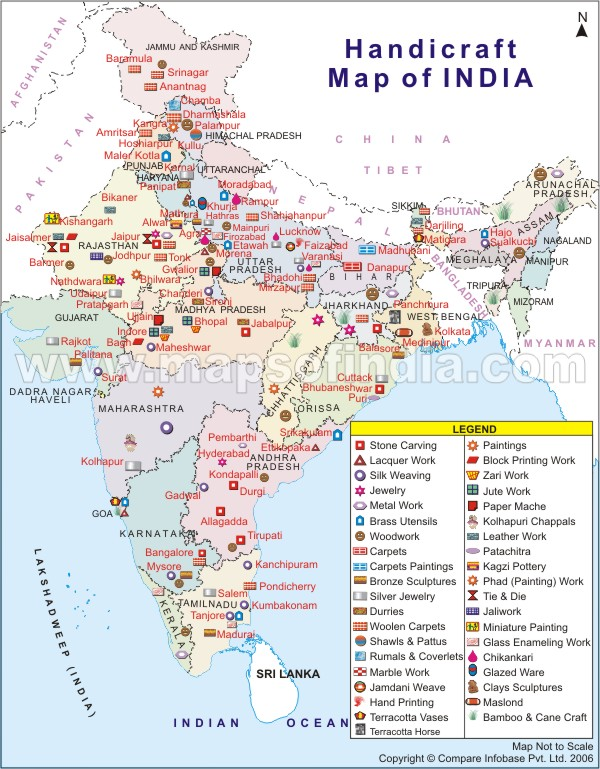 Handicraft map of India