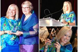 AICI Global Conference 2019 - winning the Jane Segerstrom award for Inside Out style blog