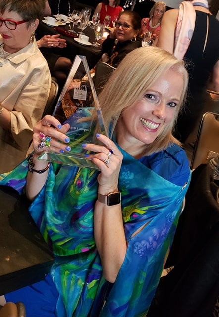 Award winning Image Consultant Imogen Lamport with the Jane Segerstrom Award