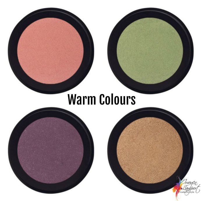 How to choose eyeshadow colours - warm eyeshadow colours