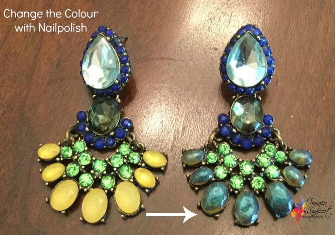 4 Easy Ways to Revamp Your Jewellery - use nailpolish to change the colour of beads