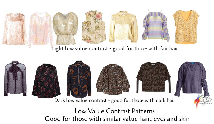 how to choose prints an patterns - low value contrast prints examples