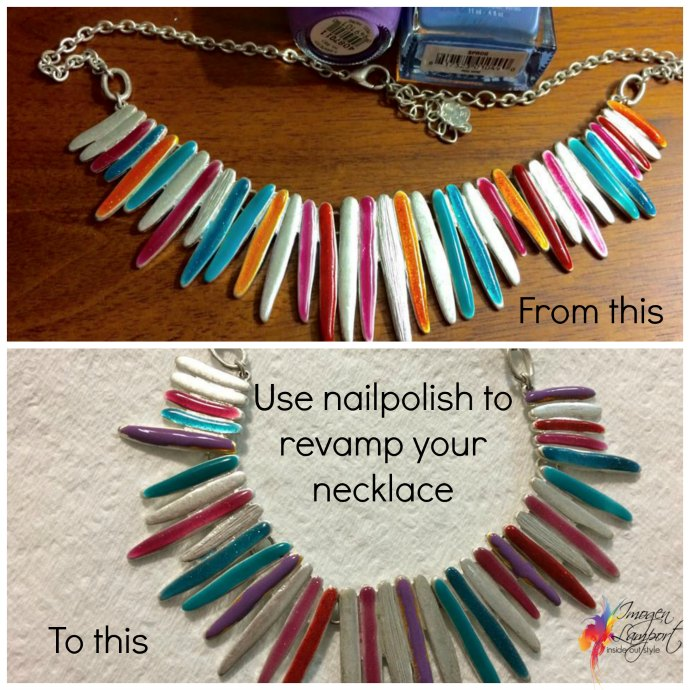4 Easy Ways to Revamp Your Jewellery - use nailpolish to change elements of colour