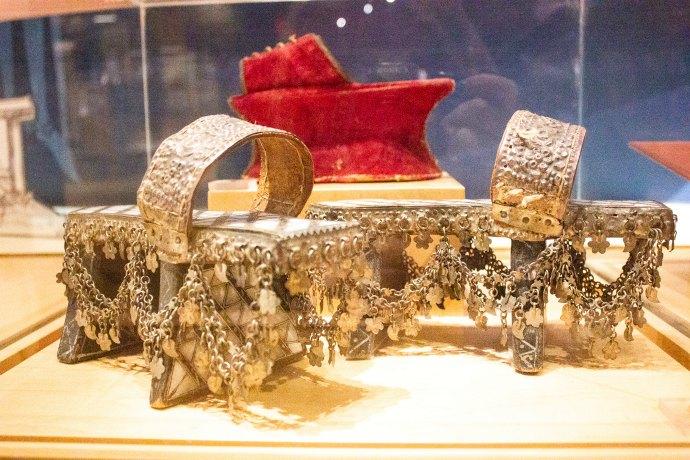 16th century chopines - Bata Shoe Museum Toronto