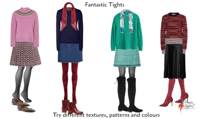 Update your hosiery collection with some patterned or textured tights this winter to keep your legs warm and stylish