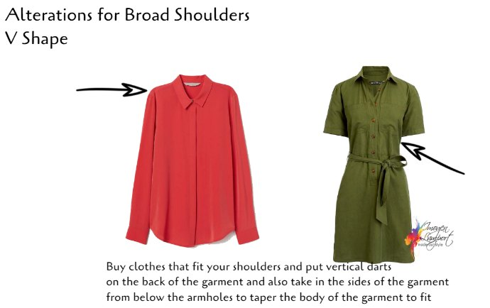 The Best Clothing Alterations Based on Your Body Shape- broad shoulders