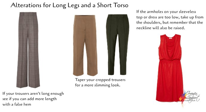 The Best Clothing Alterations Based on Your Body Shape - longer legs and shorter torso