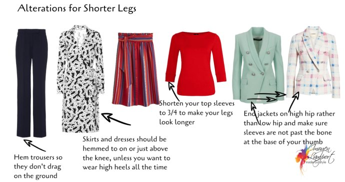 The Best Clothing Alterations Based on Your Body Shape - shorter legs, longer body