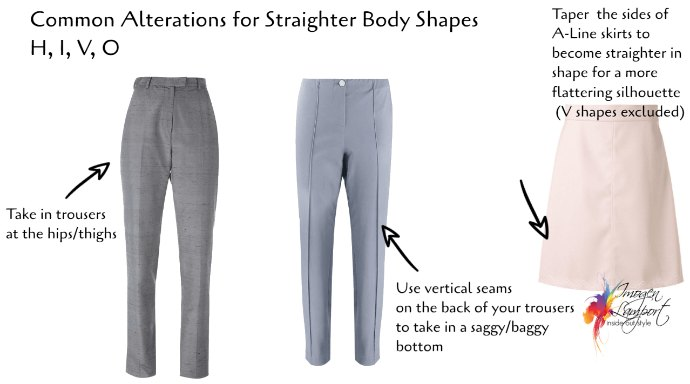 The Best Clothing Alterations Based on Your Body Shape- straight body shapes