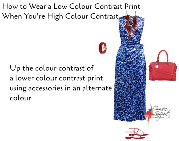 How to wear a low colour contrast print when you're high colour contrast