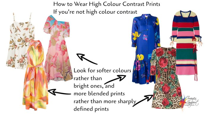 How to wear a high colour contrast print when you're not high colour contrast