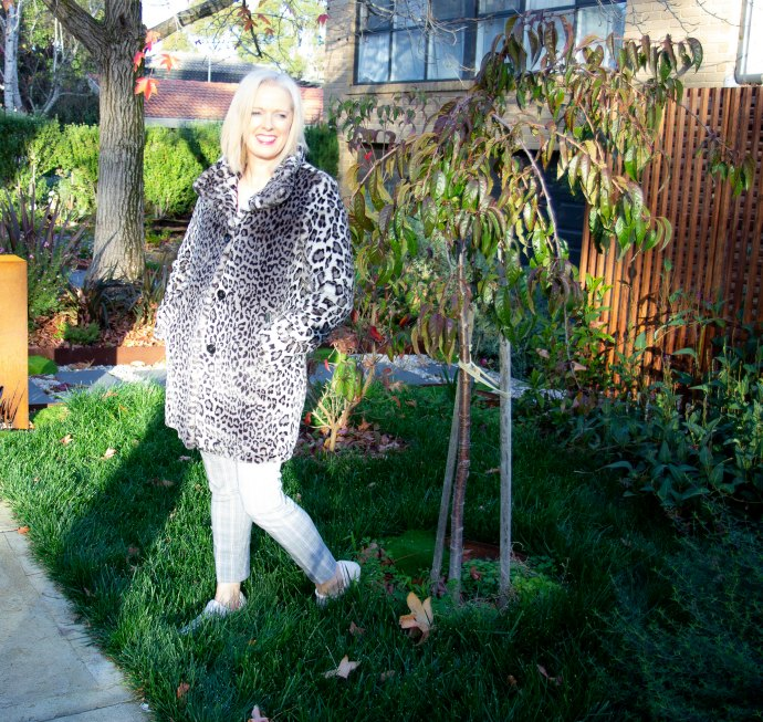 Killing two fashion birds with one stone - warm furry leopard coat