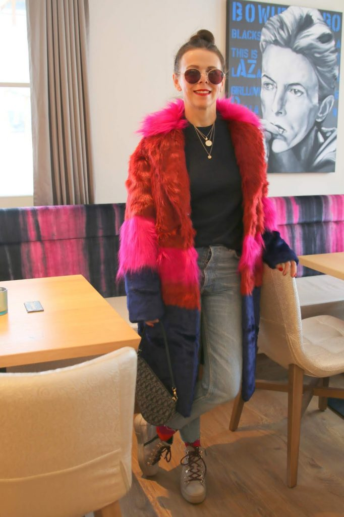 Dressing with Soul: Stylish Thoughts - faux fur colourful coat