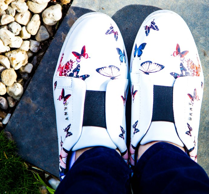 How to Style Sneakers - butterfly sneakers