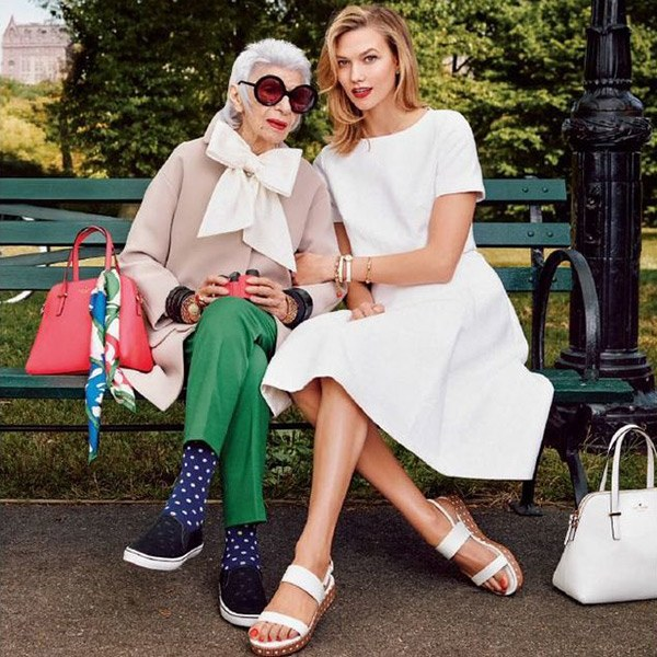 How to Style Sneakers - Iris Apfel in a Kate Spade advertisment
