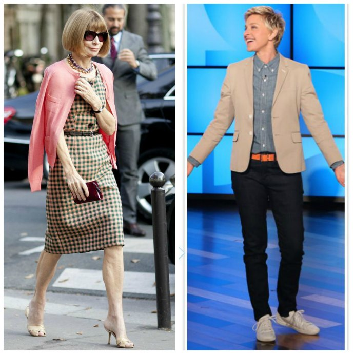 Sick of Thinking About What to Wear? 4 Ways to Deal with Image Burn Out - create your own uniform like Anna Wintour and Ellen Degeneres