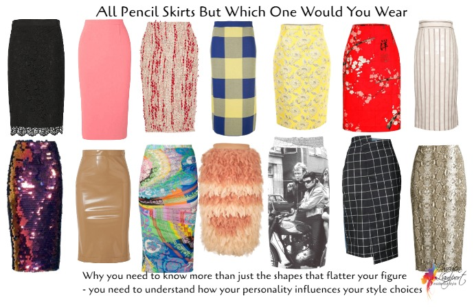 Personality of pencil skirts - how your personality influences your personal style.