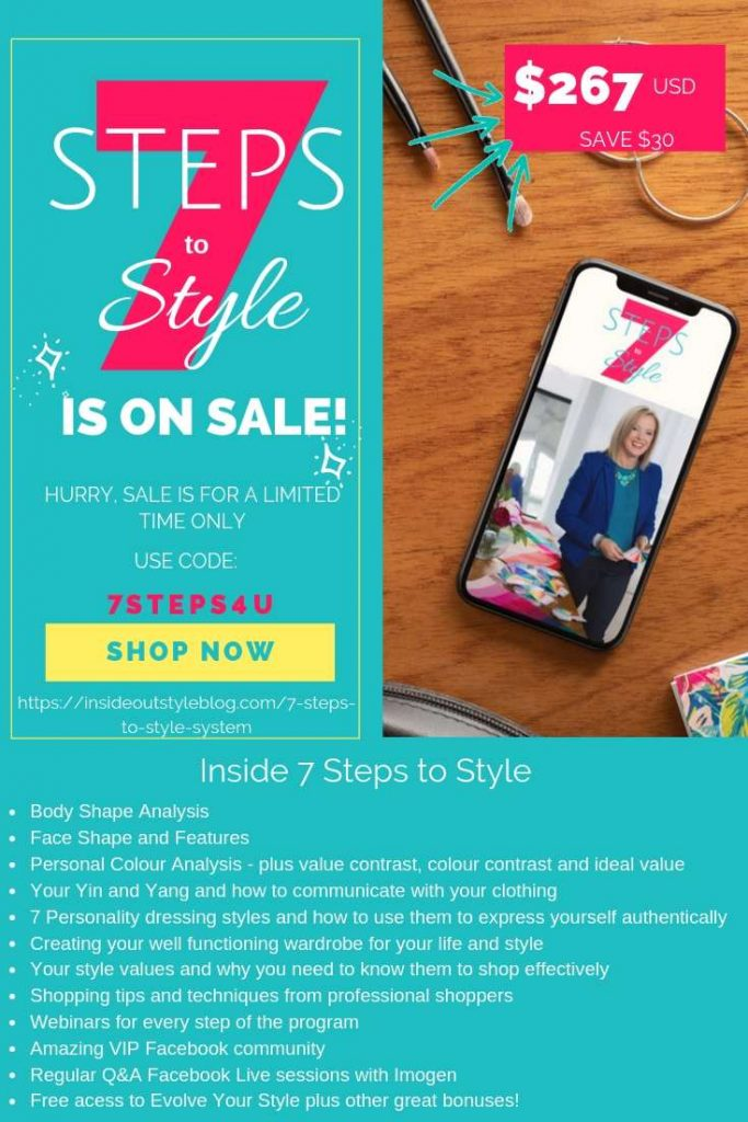 7 Steps to Style - the number one style program to help you define and refine your personal style from a world-leading colour and image consultant Imogen Lamport