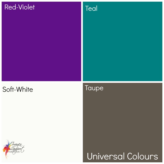 What are the universal colours