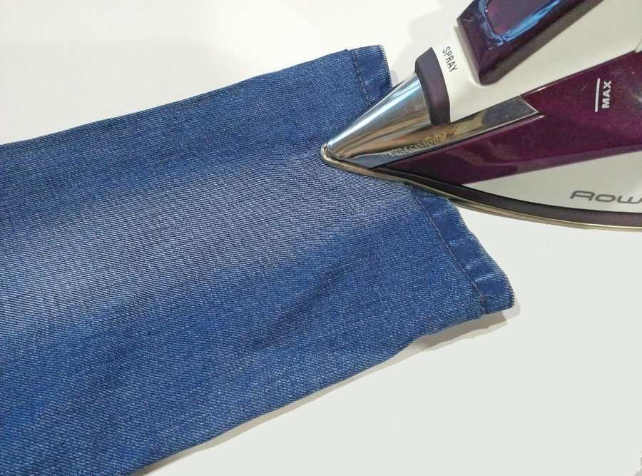 How to hem jeans so they look exactly like new