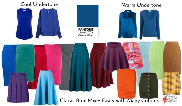 Pantone classic blue colour of 2020
