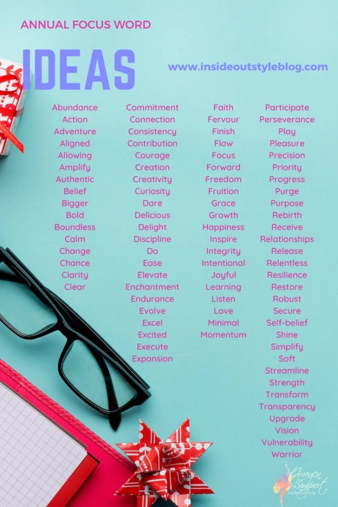 New Year focus word of the year ideas
