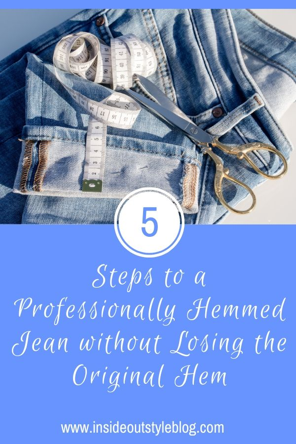 How to hem jeans so they look professional as you don't lose the original hem