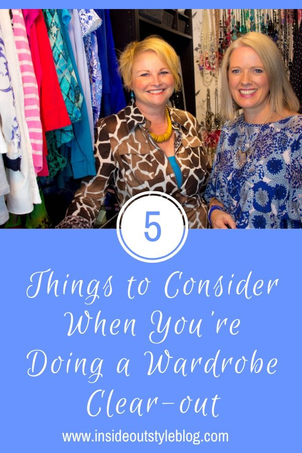 5 Things to Consider When You're Doing a Wardrobe Clear-out