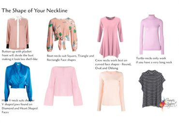 Selecting the right shape neckline even when it's a high neckline