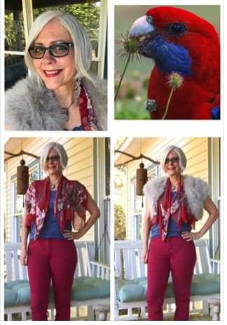 Rainbow Lorikeet - Bird inspired outfit inspiration