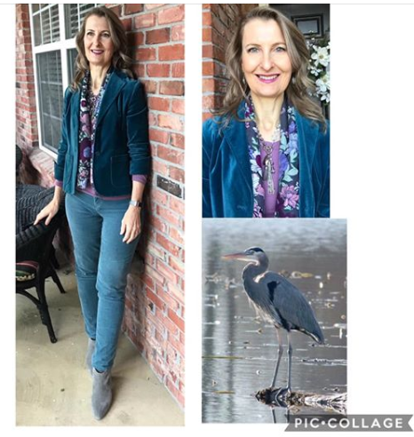 Blue Heron - Bird inspired outfit inspiration
