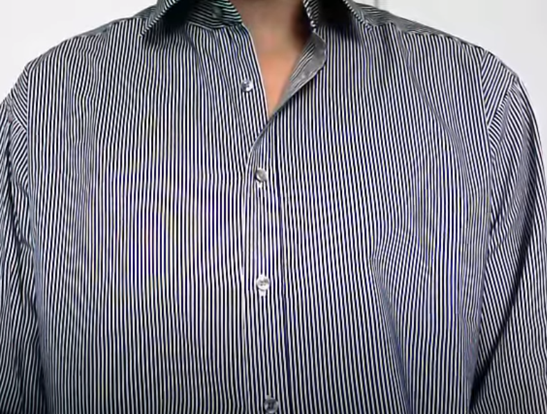 What to wear on video - avoid small geometric patterns like stripes as they move on screen