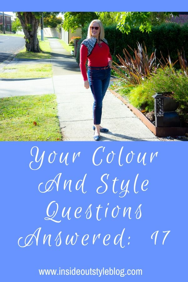 Your colour and style questions on value contrast and wearing black plus lots more