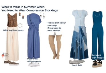 What to wear in summer with compression stockings or socks