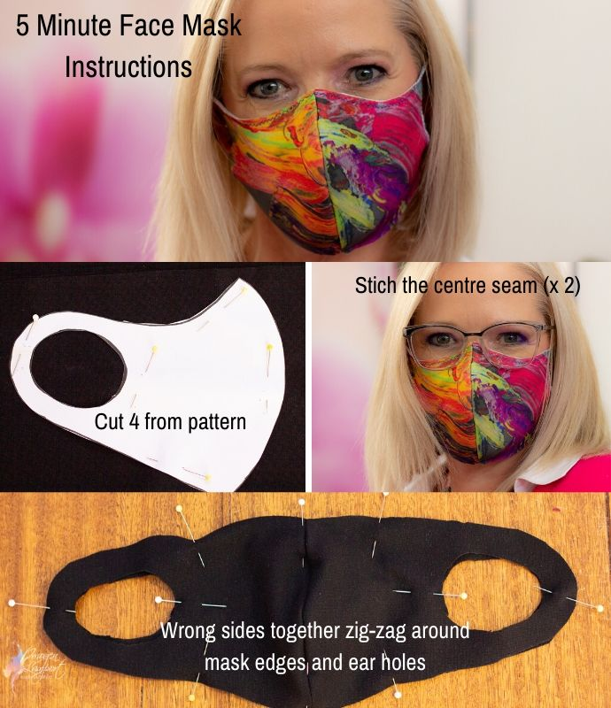 5 Minute Face Mask Instructions