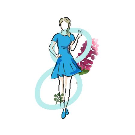 8 Body Shape - Blue dress