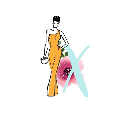 X Body Shape - yellow one sided dress