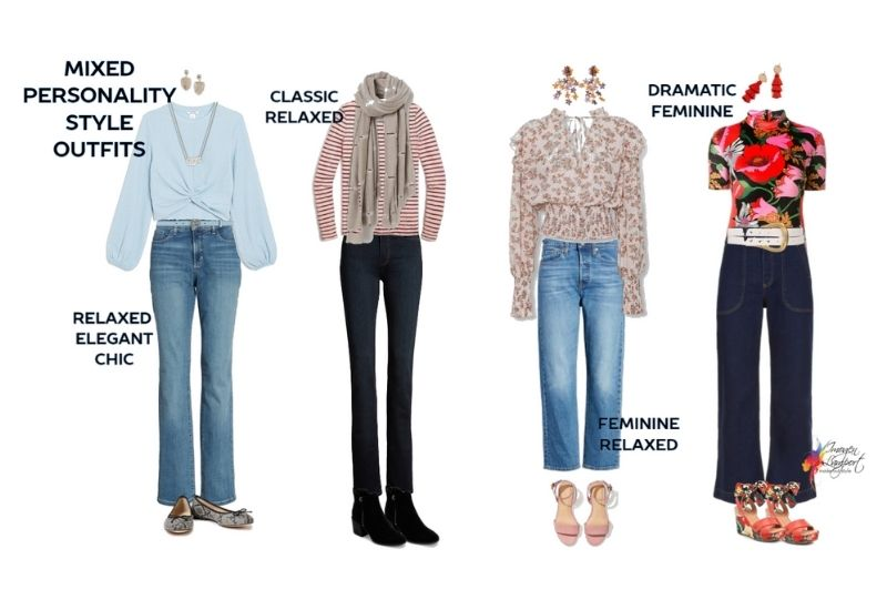 how to mix personality styles in jeans and top outfits